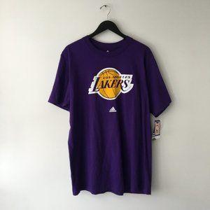New Adidas Los Angeles Lakers Graphic Tee Shirt XL